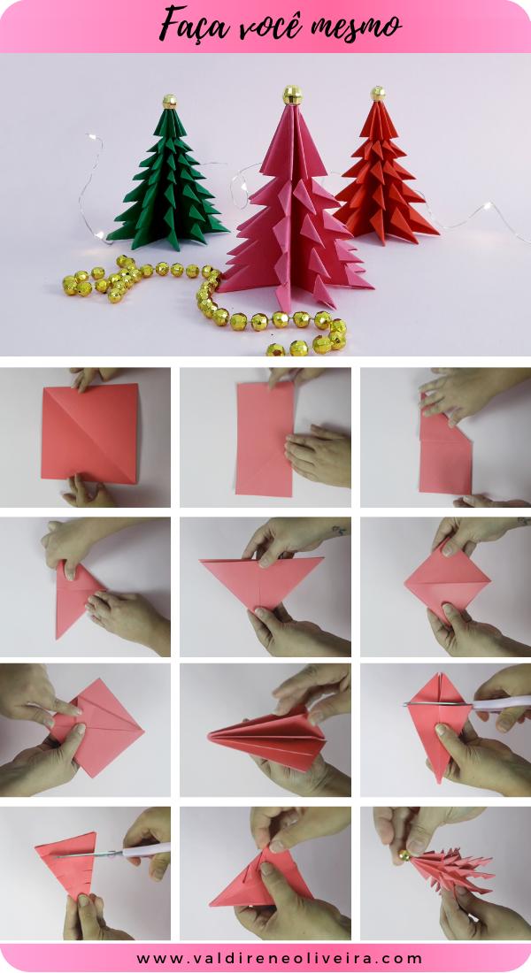 como fazer  arvore de natal de origami