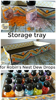 DIY storage tray for Robin