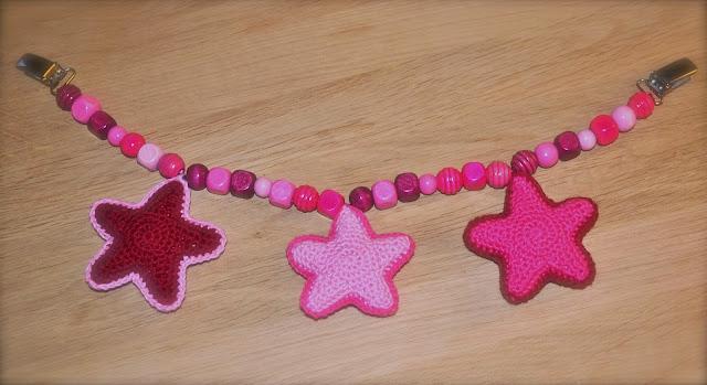 Barnevognskæde med stjerner :)