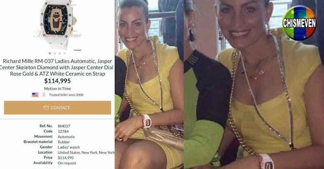 "Esposa de Tareck el Aissami lució un reloj ""Richard Mille"" que vale 115.000 dólares"