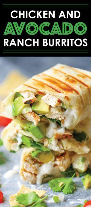 Chicken and Avocado Ranch Burritos - Healthy Recipes