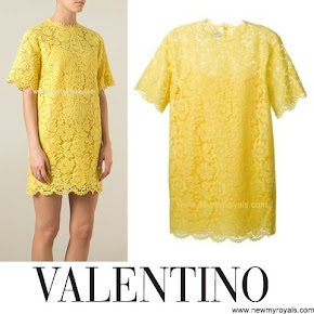 VALENTINO Lace Dress Charlotte Casiraghi