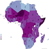 The average number of children per woman in Africa