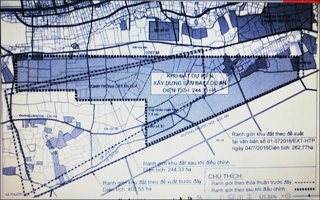 Quy hoạch dự kiến xây dựng sân bay Hồ Tràm Vũng Tàu