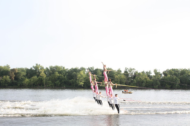Pyramid formation by Backwater Gamblers Water Ski Club