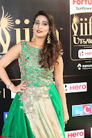 Manjusha in Beautiful Sleeveless Green Anarkali dress at IIFA Utsavam Awards 85.JPG
