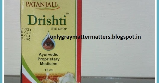 Honest Reviews and Lifestyle Tips: Patanjali Drishti Eye Drops Review