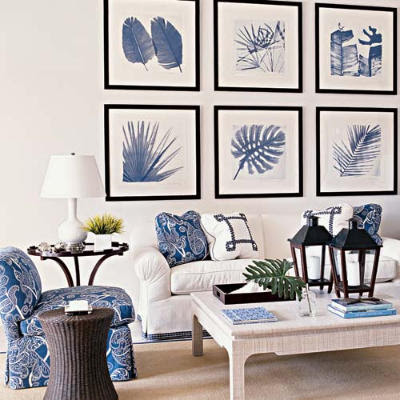exciting living room blue accents   Blackband Design: July 2011
