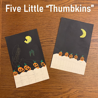 "Five Little ""Thumbkins"" craft"