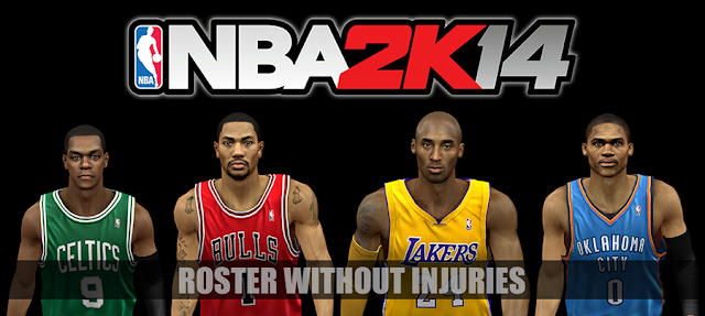 nba 2k14 roster with no injuries