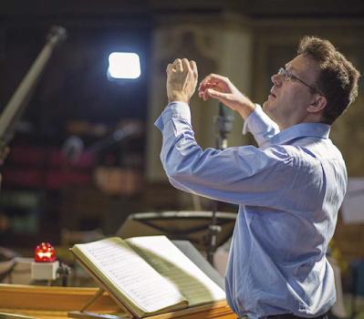 John Eccles: Semele - Julian Perkins, Academy of Ancient Music - recording session 2019 (Photo Patrick Allen)