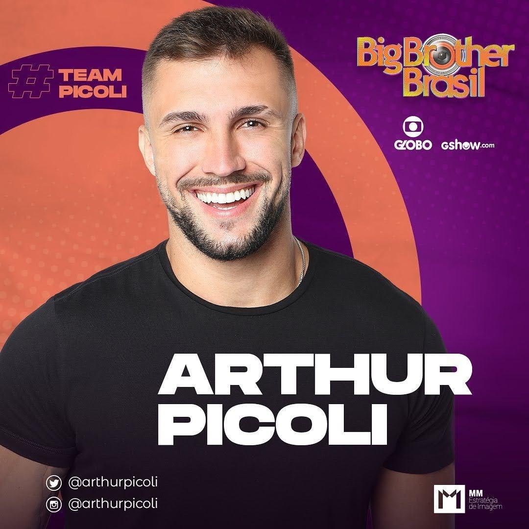 Arthur Pícoli, instrutor de crossfit, é participante do BBB21. Foto: Globo