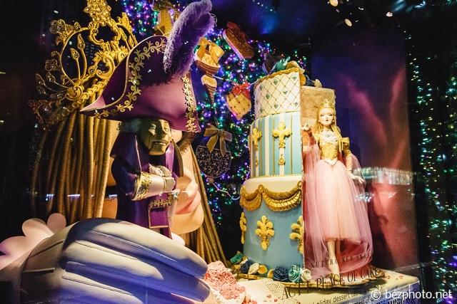 рождественские витрины нью-йорк