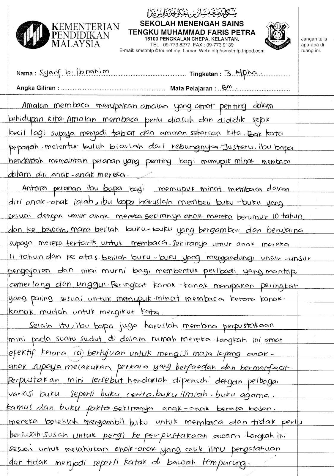 Contoh Soalan Lisan Spm Bahasa Melayu - I Soalan