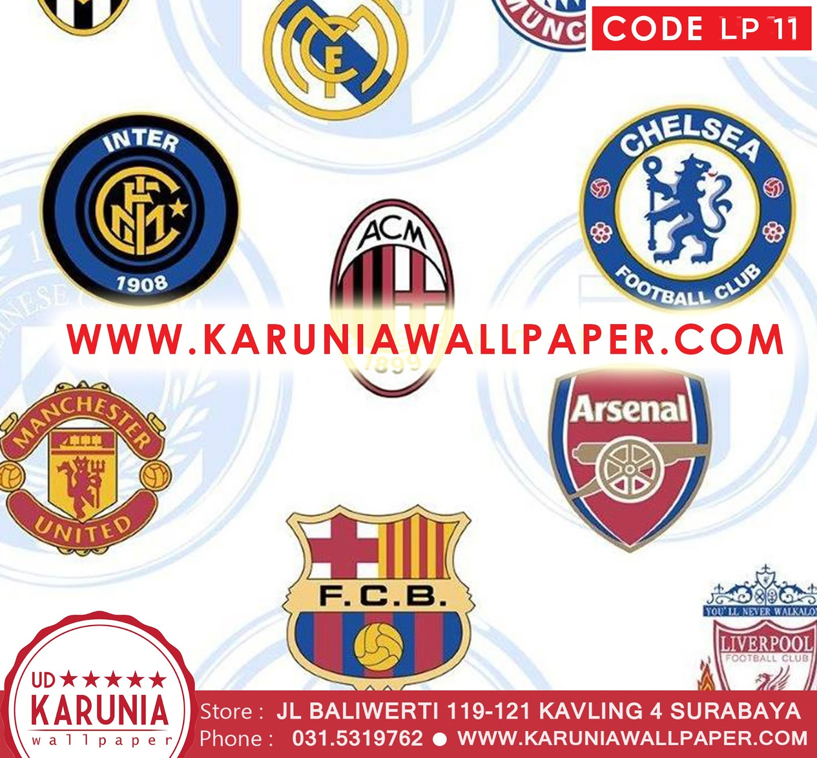 jual wallpaper sepak bola