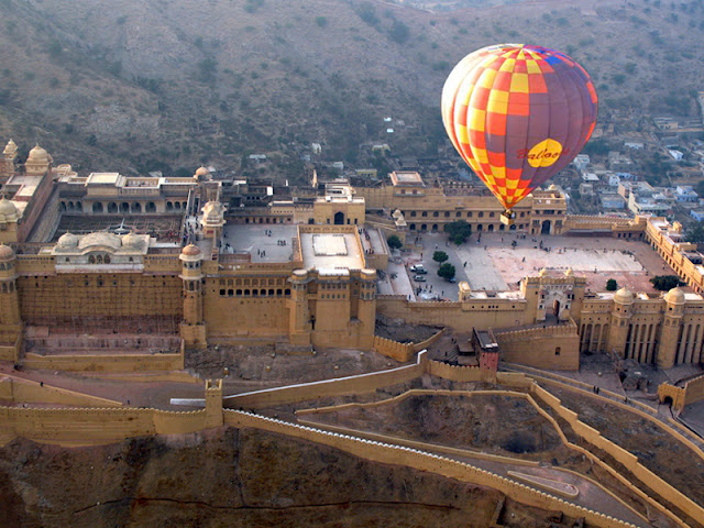 Hot air Balloning ride is famous adventure activity in India.