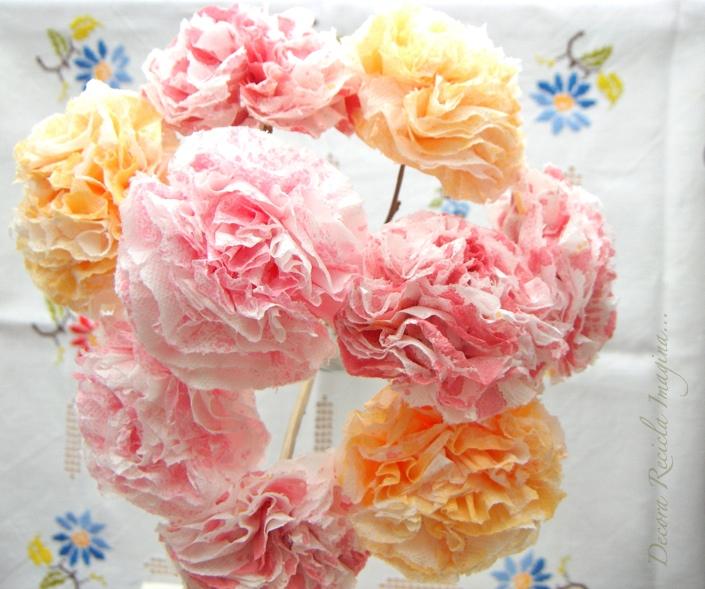 Decora recicla imagina c mo hacer flores de papel how - Plantas artificiales baratas ...