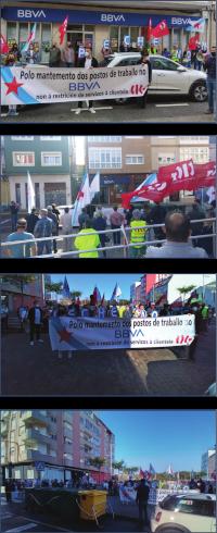 Concentración nas oficinas de San Cibrao e Ferreira do Valadouro (Lugo) o 22 de setembro de 2021