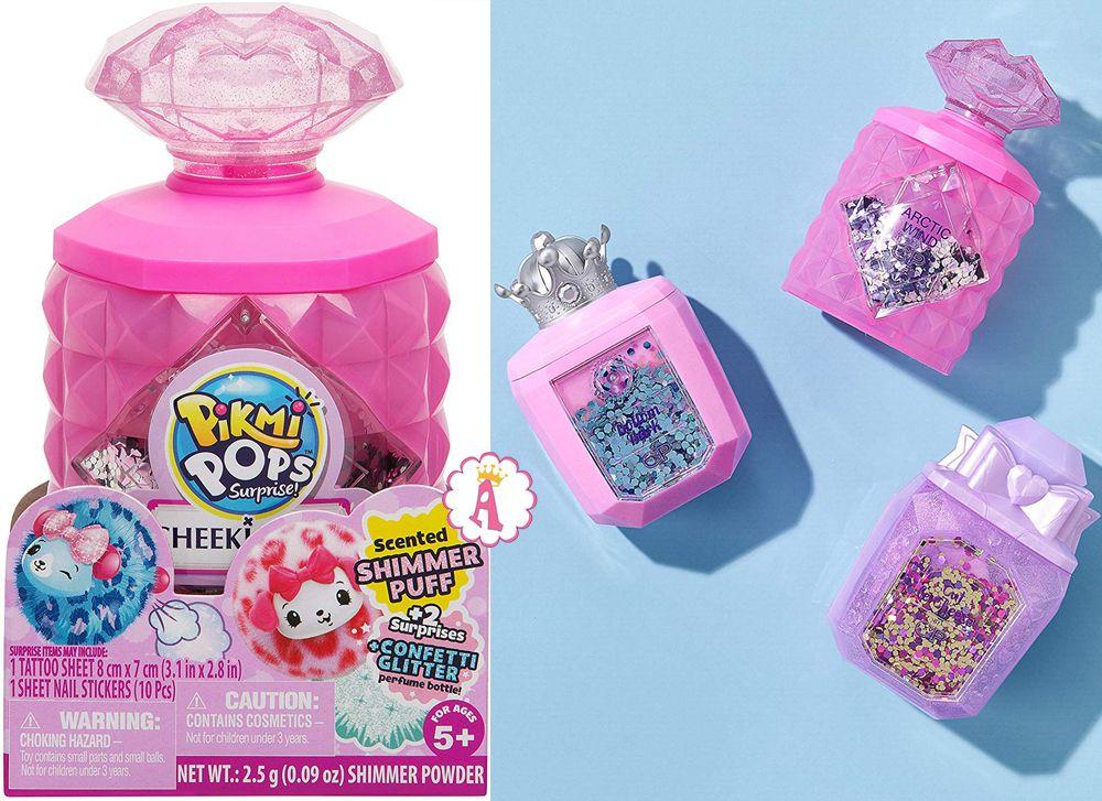 Флаконы духов с игрушками Pikmi Pops Cheeki Puffs