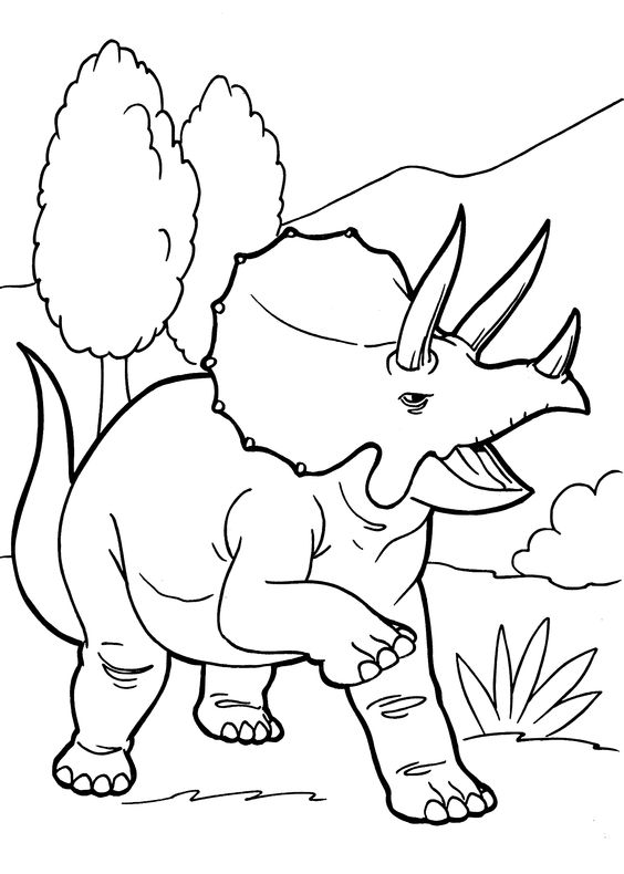 Dinosaurs coloring pages 12