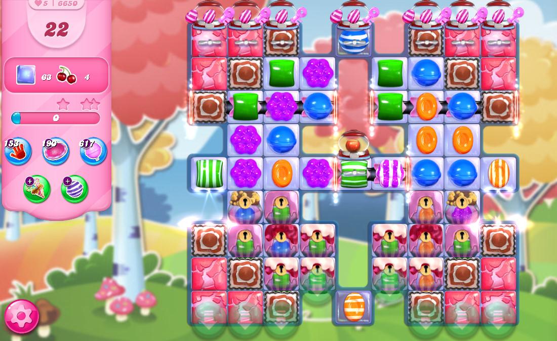 Candy Crush Saga level 6650