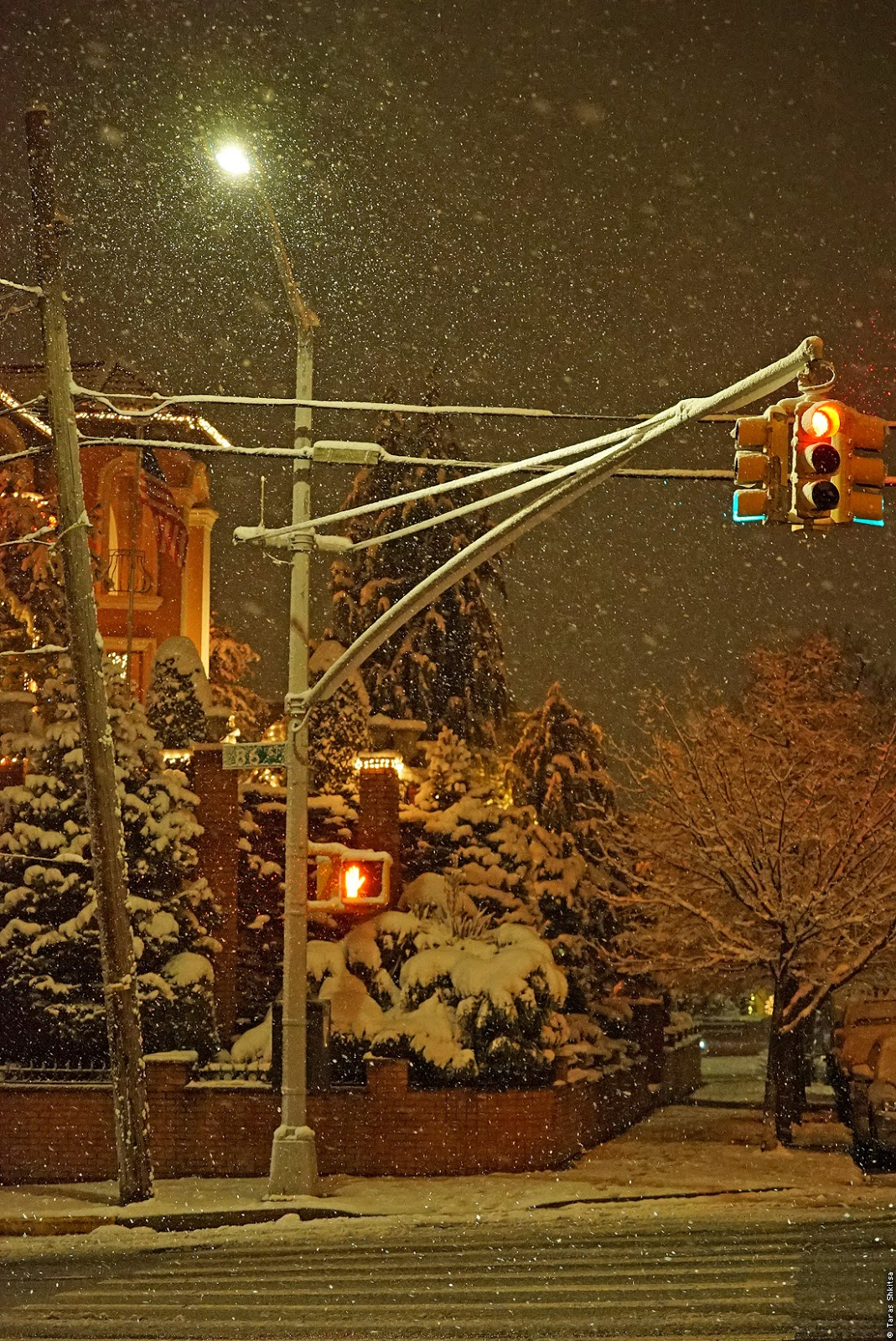 Bay Ridge. Brooklyn. Evening, winter