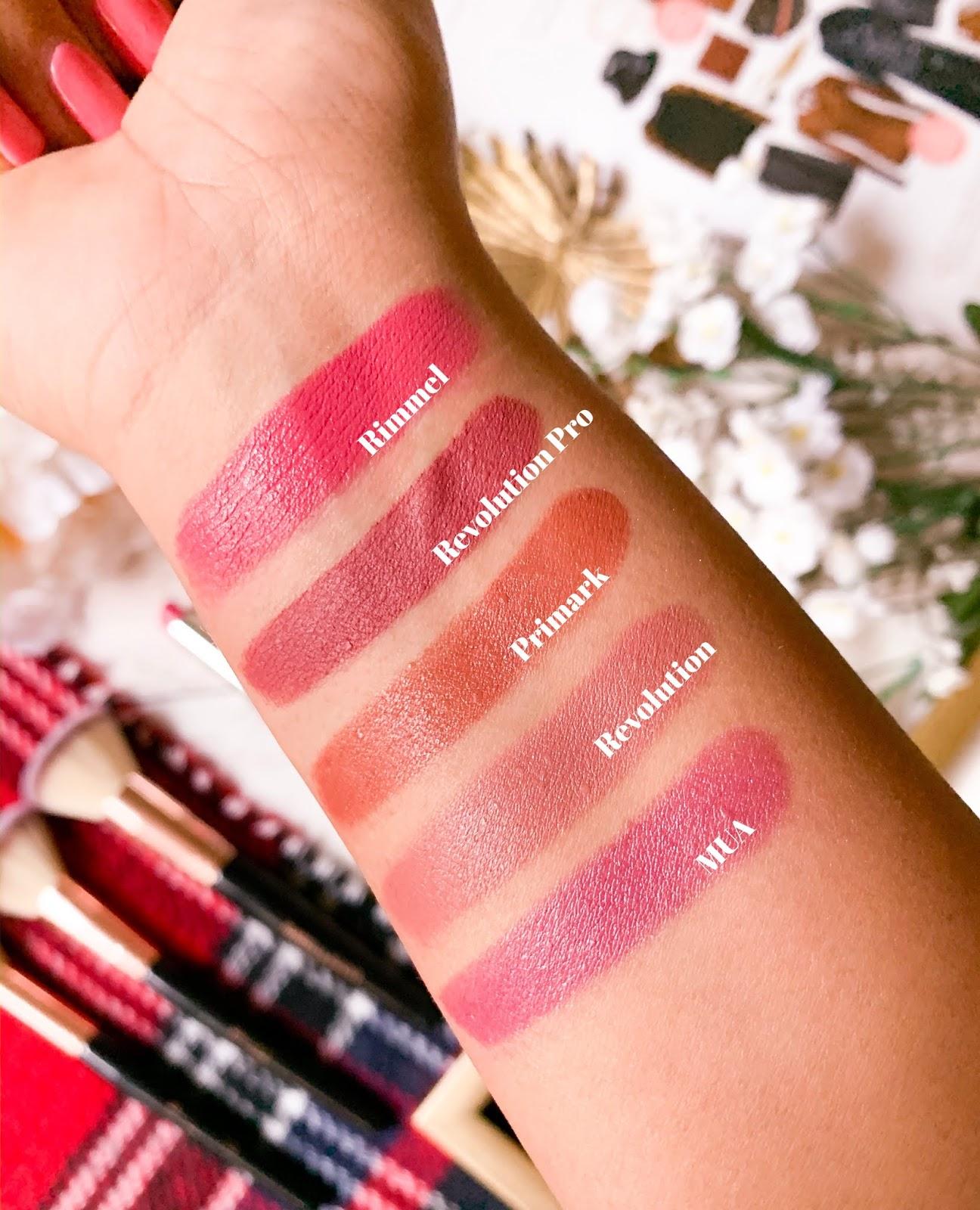 5 Under £5: Lipsticks Swatch