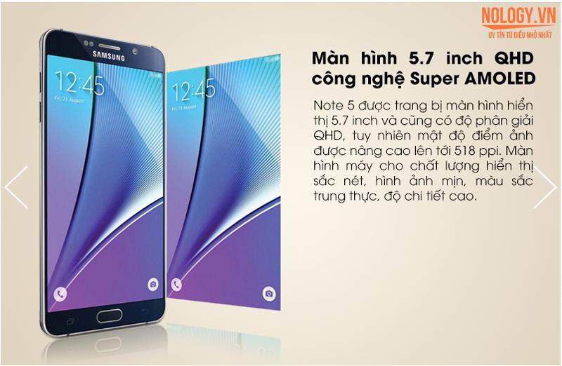 Samsung Galaxy Note 5  màn hình rộng