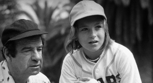 Walter Matthau and Tatum O'Neal share the father-daughter equivalent of the romantic B-story subplot in the second act of THE BAD NEWS BEARS (1976)