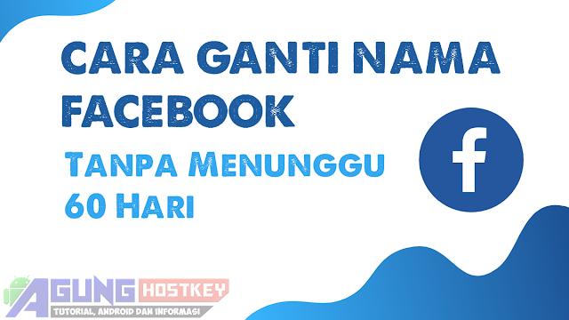 Cara mengganti nama akun facebook yang tidak bisa diganti