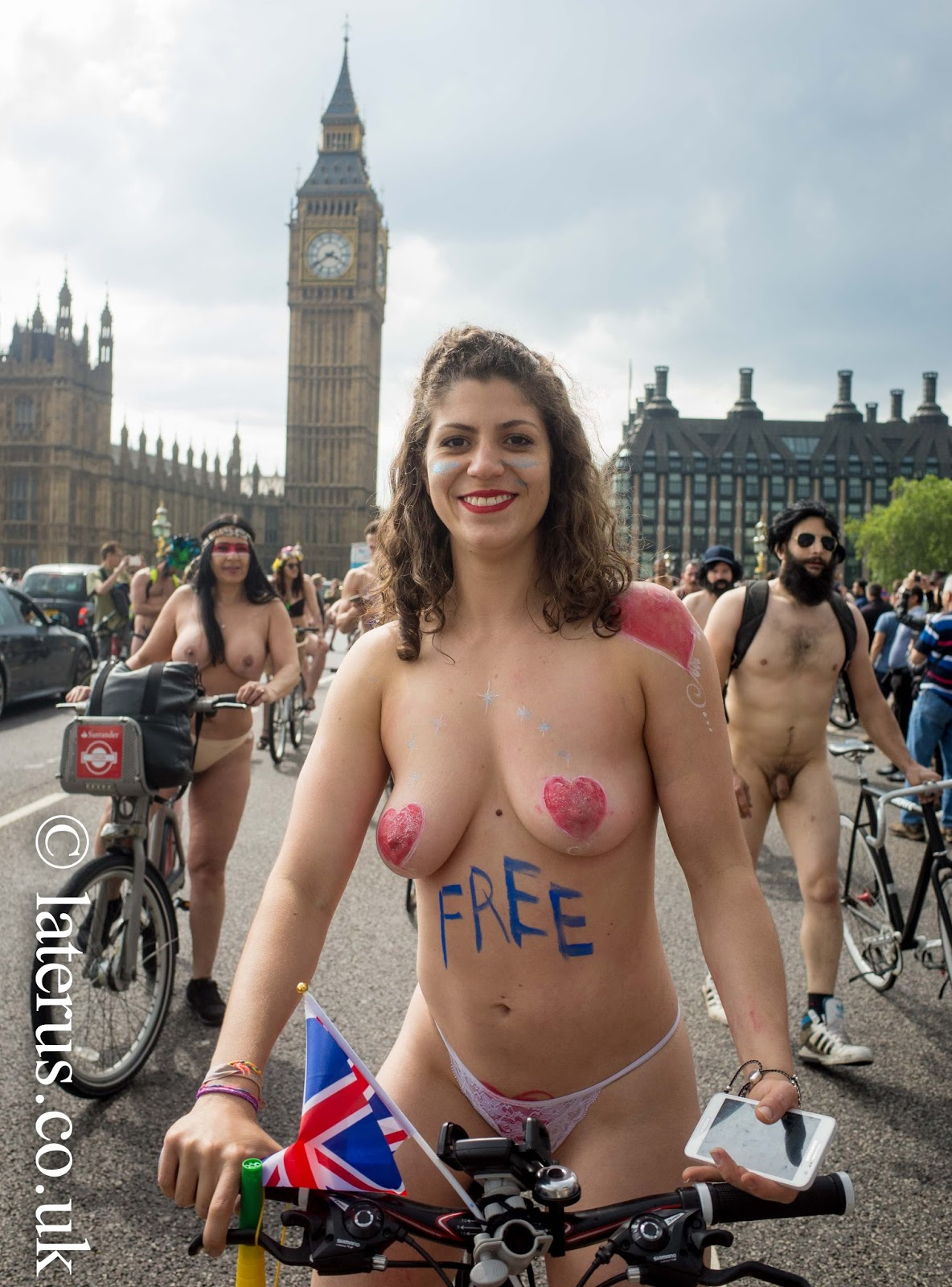 London Naked Bike Ride Pictures
