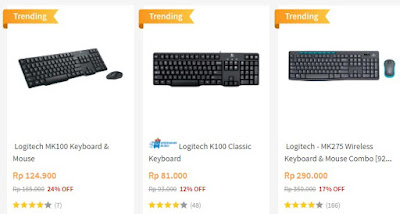Keyboard Logitech di Blibli