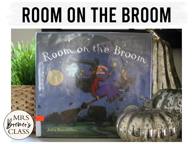 Room on the Broom Halloween book study companion activities K-1