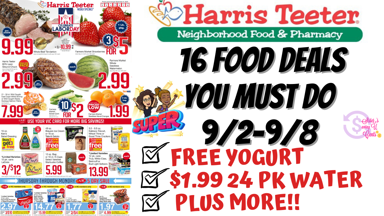 Youtube Video Harris Teeter Deals 9 2 9 8 16 Food Deals You Must Do