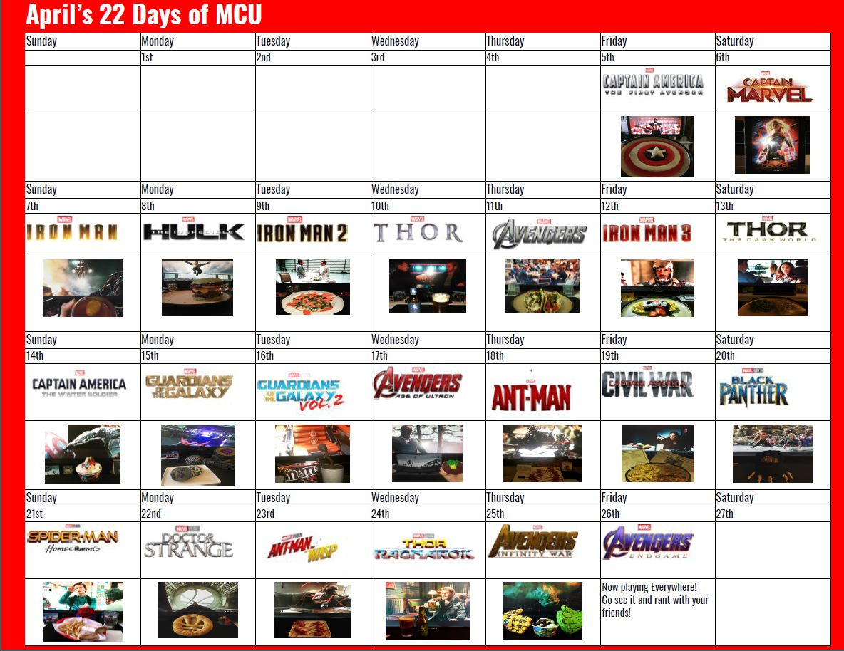 The Marvel Cinematic Universe 22 Movies in 22 Days Challenge