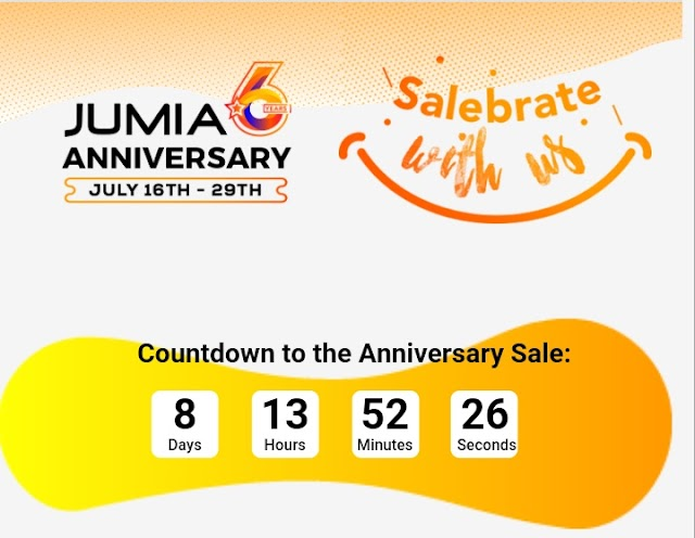 Jumia 6th Anniversary Enjoy Discounts On All Products