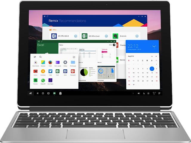 Tablet 2 em 1 Remix Pro com Remix OS 3.0.