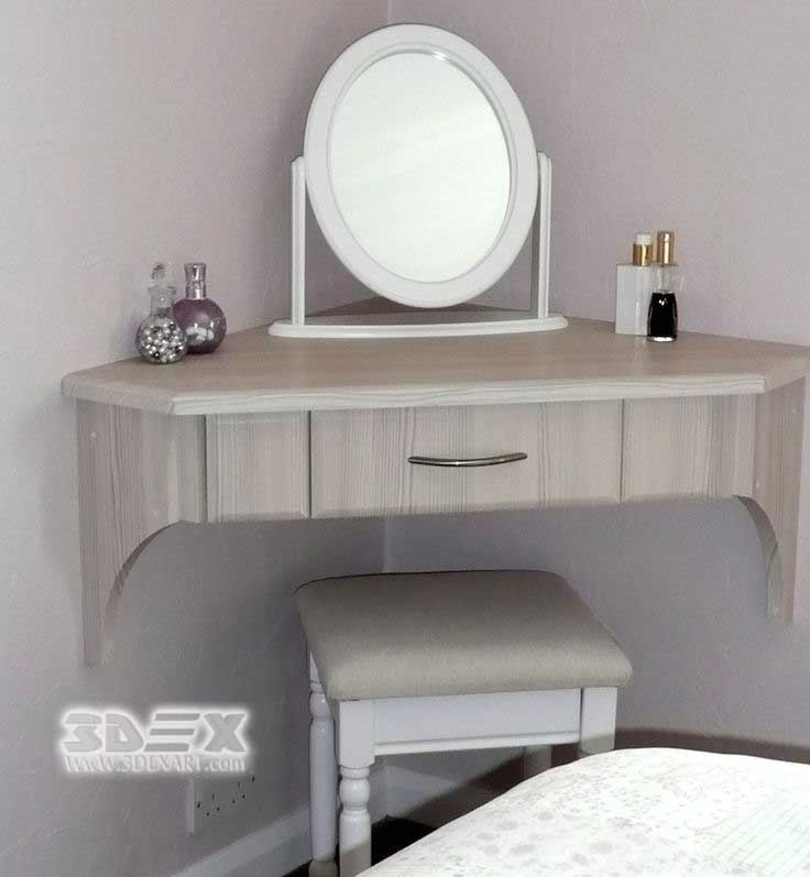 Wall Mounted Corner Dressing Tables For Bedroom Wooden Designs 2018