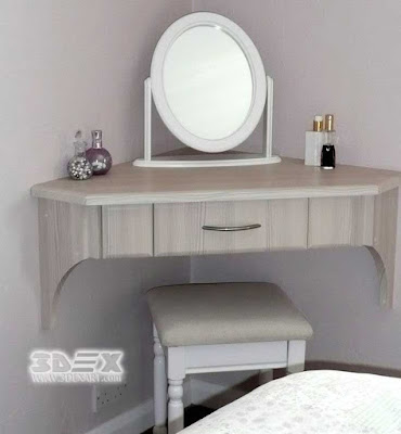 wall mounted corner dressing tables for bedroom wooden designs 2019