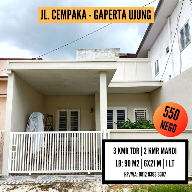 Jual Rumah Murah Hanya 500 Juta Nego Sampai Lemas Lokasi Jl. Cempaka Gaperta Ujung Medan