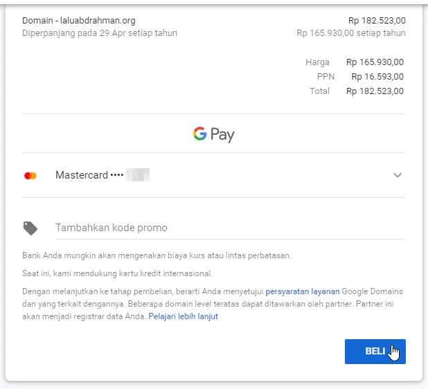 Cara Membeli Domain di Blogger dengan Kartu Debit ATM