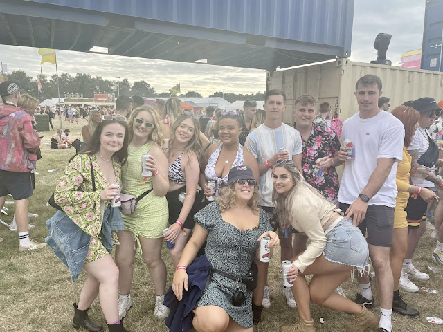 Group of people at festival