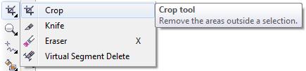 Mengenal bagian CorelDRAW - Crop Tool
