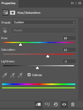 Cara merubah warna kaos dengan Hue/Saturation di Photoshop