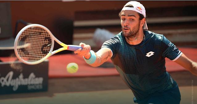 Matteo Berretini Roma ATP Premier Nadal Halep Djokovic Pliskova