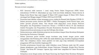 Kapolsek : Pejabat Disnaker Meninggal Bukan Gegara Covid-19, Warga Agar Tetap Tenang