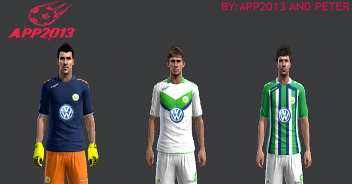 a10133ebc PES 2013 NEW KITS WOLFSBURG 15-16 BY APP2013 AND PETER ~ PES (Pes Evolution  Soccer)