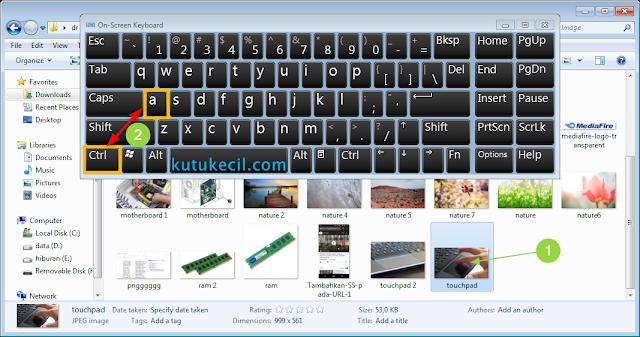 cara menandai banyak file di laptop