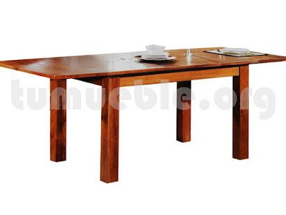 mesa comedor extensible hecho en teca 4005/1