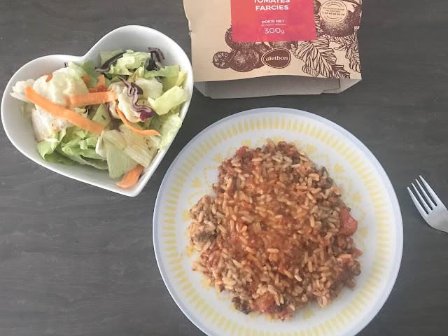 DietBon main rice meal with a side salad